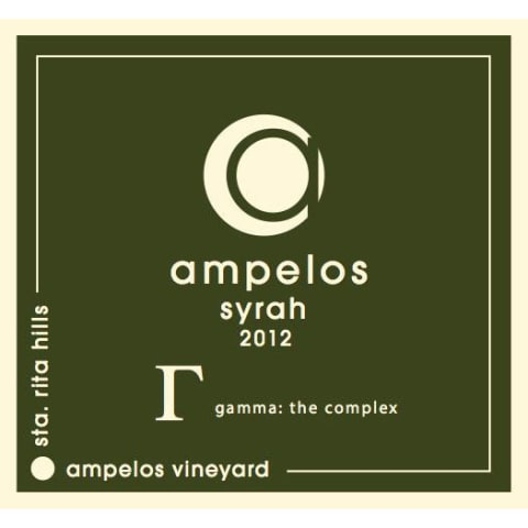 Ampelos Cellars Gamma: The Complex Syrah 2012 Front Label