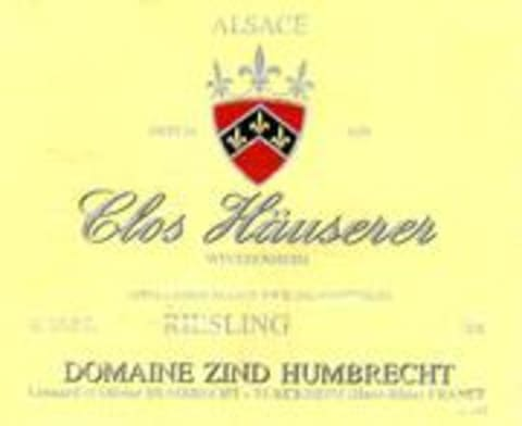 Zind-Humbrecht Clos Hauserer Riesling 1998 Front Label
