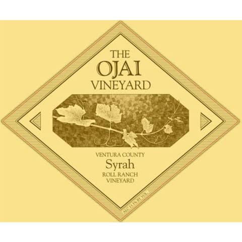 Ojai Roll Ranch Syrah 2014 Front Label