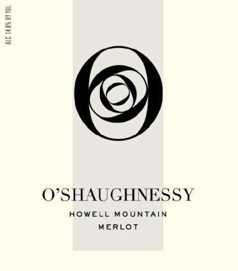 O'Shaughnessy Howell Mountain Merlot 2012 Front Label