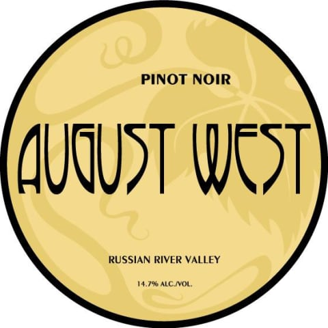 August West Russian River Valley Pinot Noir 2012 Front Label