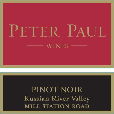 Peter Paul Mill Station Road Pinot Noir 2012 Front Label