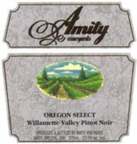 Amity Oregon Select Pinot Noir 1997 Front Label