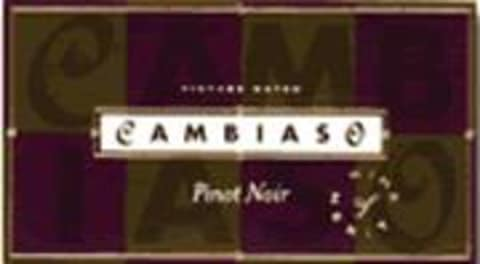 Cambiaso Pinot Noir 1997 Front Label