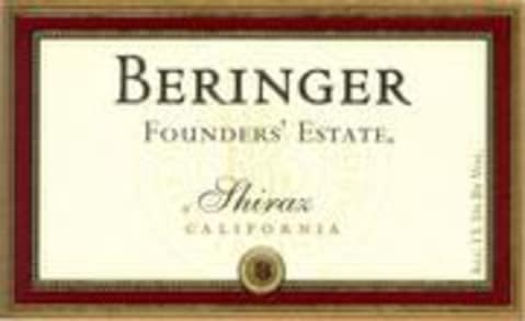 Beringer Founder's Estate Shiraz 1998 Front Label