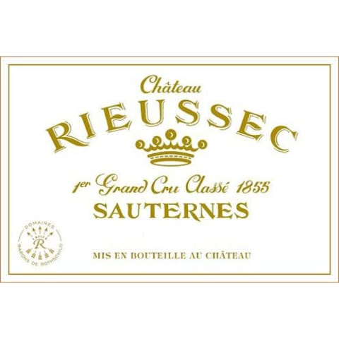 Chateau Rieussec Sauternes (375ML half-bottle) 2016 Front Label