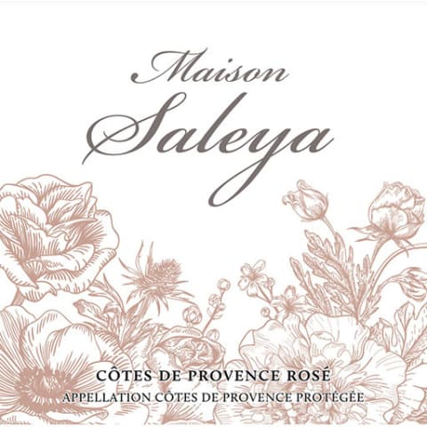 Maison Saleya Rose 2016 Front Label
