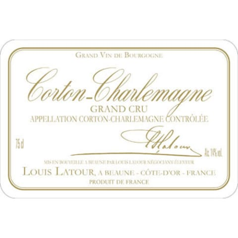 Louis Latour Corton-Charlemagne Grand Cru (375ML half-bottle) 2014 Front Label