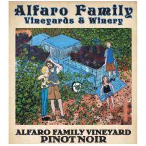 Alfaro Family Estate Pinot Noir (375ML half-bottle) 2015 Front Label