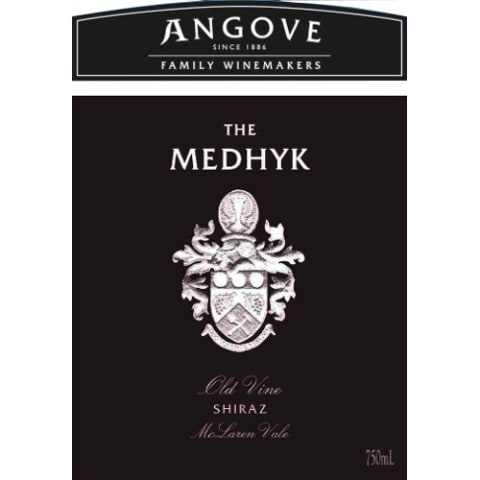 Angove Family Winemakers The Medhyk Shiraz 2014 Front Label
