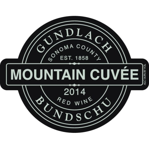 Gundlach Bundschu Mountain Cuvee 2014 Front Label