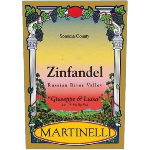 Martinelli Giuseppe and Luisa Zinfandel 2001 Front Label