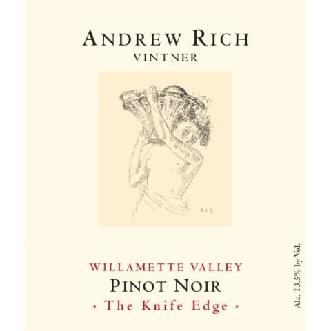 Andrew Rich The Knife Edge Pinot Noir 2013 Front Label