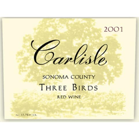 Carlisle Three Birds Red 2001 Front Label