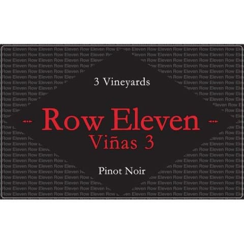 Row Eleven Vinas 3 Pinot Noir 2015 Front Label