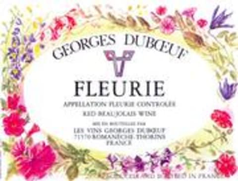 Duboeuf Fleurie 1998 Front Label