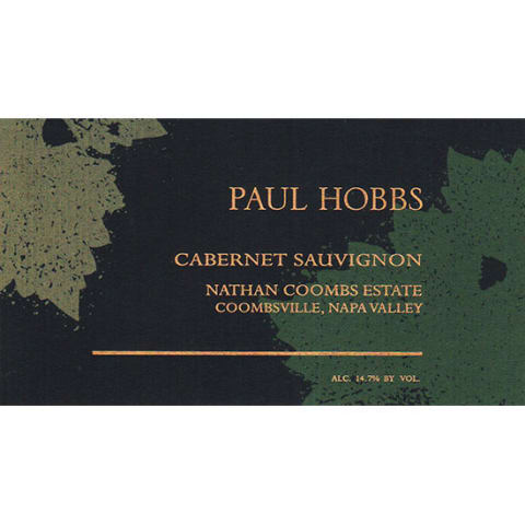 Paul Hobbs Nathan Coombs Estate Cabernet Sauvignon 2014 Front Label