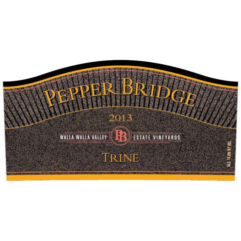 Pepper Bridge Winery Trine 2013 Front Label
