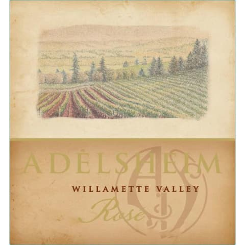 Adelsheim Rose 2016 Front Label