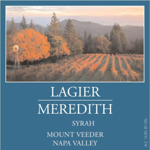 Lagier Meredith Syrah 1999 Front Label