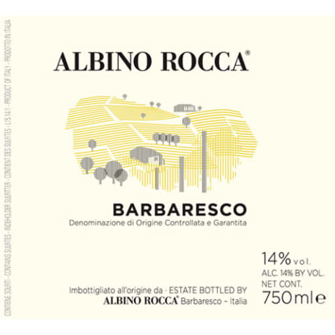 Albino Rocca Barbaresco 2014 Front Label