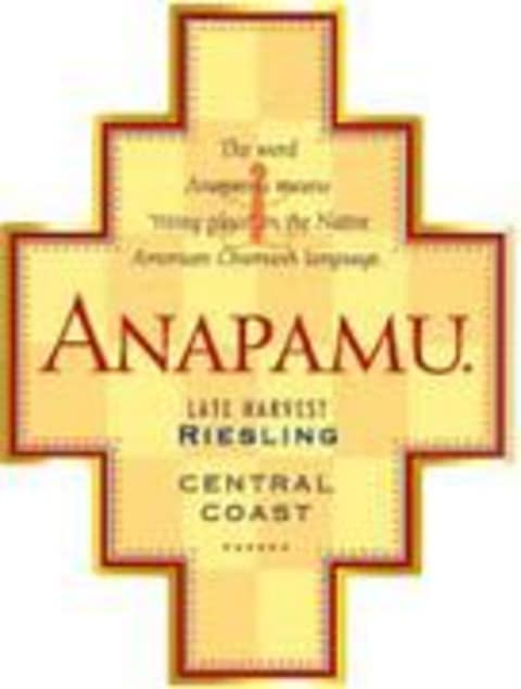 Anapamu Late Harvest Riesling 1998 Front Label