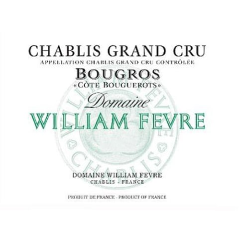 William Fevre Chablis Bougros Cote Bouguerots Grand Cru 2015 Front Label