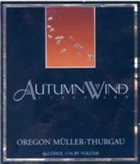 Autumn Wind Muller Thurgau 1998 Front Label
