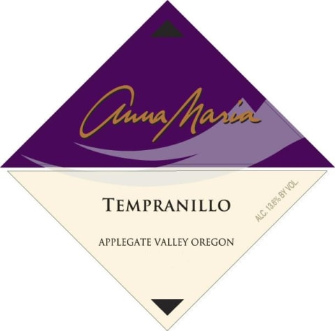 Valley View Vineyard Anna Maria Tempranillo 2012 Front Label