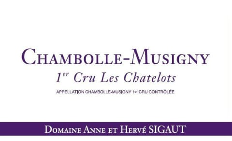 Domaine Anne et Herve Sigaut Chambolle-Musigny Les Chatelots Premier cru 2013 Front Label