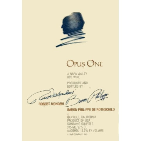 Opus One  1995 Front Label