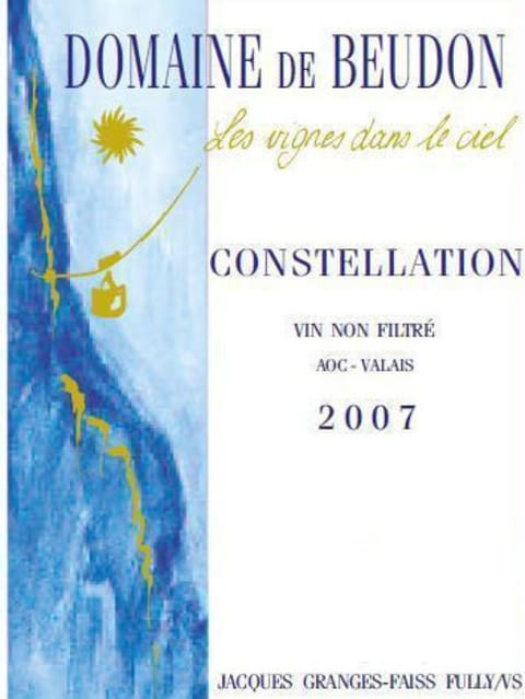 Domaine de Beudon Constellation 2007 Front Label