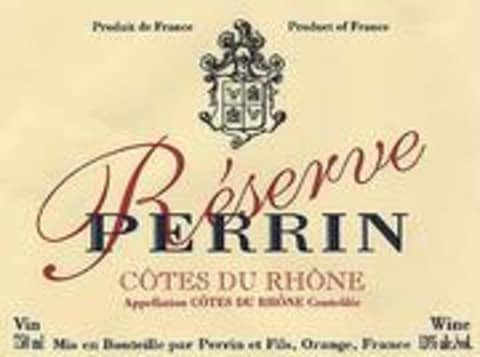 Famille Perrin Reserve Cotes du Rhone Rouge 2001 Front Label