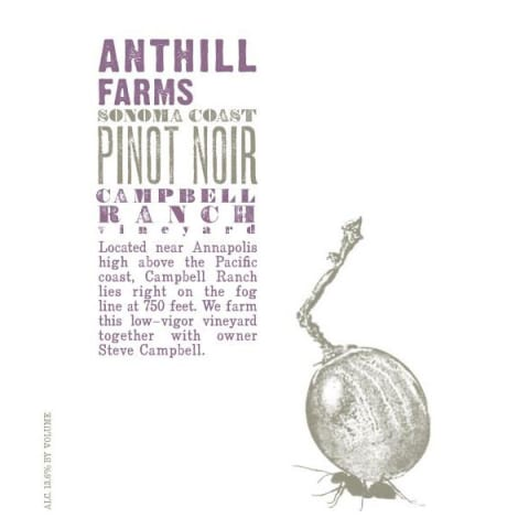 Anthill Farms Campbell Ranch Vineyard Pinot Noir 2015 Front Label