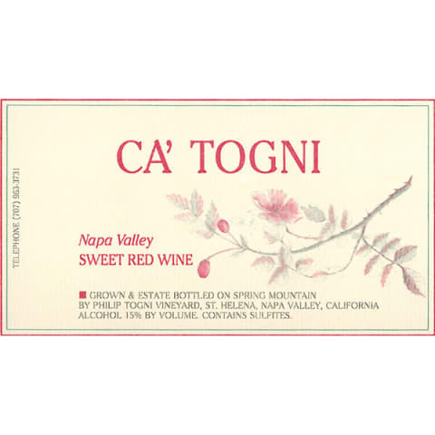 Philip Togni Ca' Togni (375ml half-bottle) 2008 Front Label