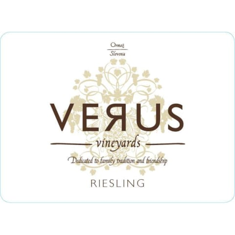 Verus Riesling 2015 Front Label