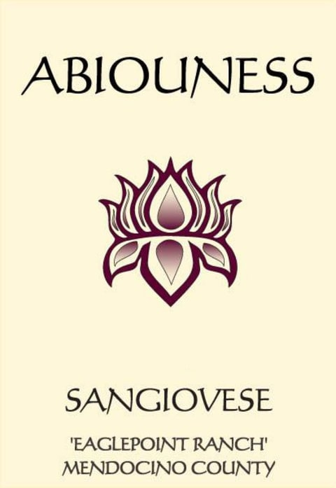 Abiouness Wines Eaglepoint Ranch Sangiovese 2014 Front Label