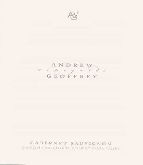 Andrew Geoffrey Vineyards Cabernet Sauvignon 2010 Front Label