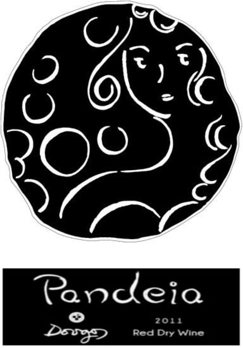 Dougos Winery Pandeia Red 2011 Front Label