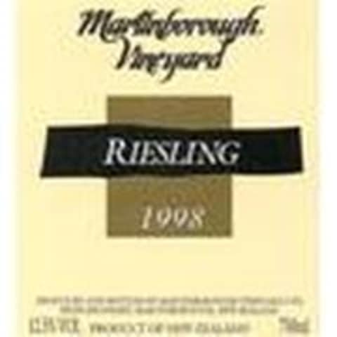 Martinborough Riesling Martinborough 1998 Front Label