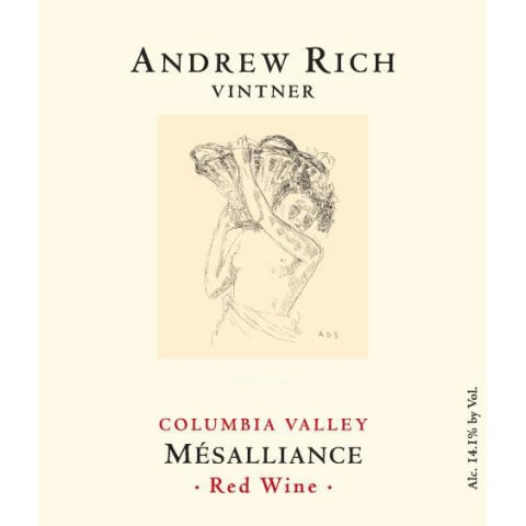 Andrew Rich Mesalliance 2012 Front Label
