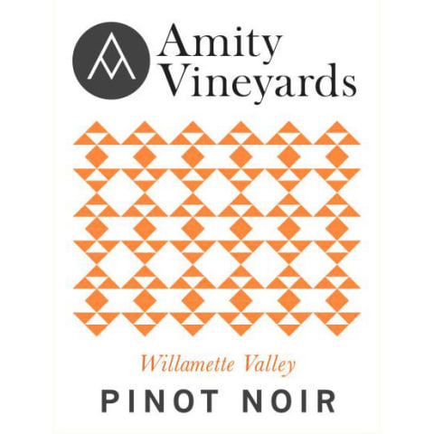 Amity Willamette Valley Pinot Noir 2015 Front Label