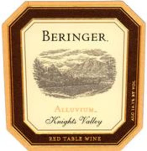 Beringer Knights Valley Alluvium Red 1996 Front Label