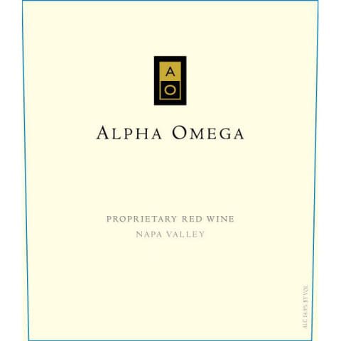 Alpha Omega Proprietary Red 2014 Front Label