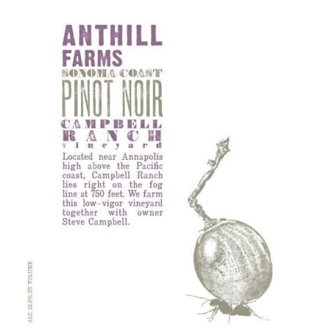 Anthill Farms Campbell Ranch Vineyard Pinot Noir 2014 Front Label