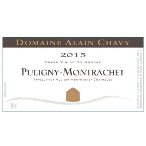 Alain Chavy Puligny-Montrachet 2015 Front Label