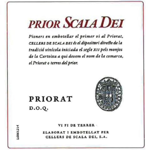 Scala Dei Priorat Prior 2015 Front Label