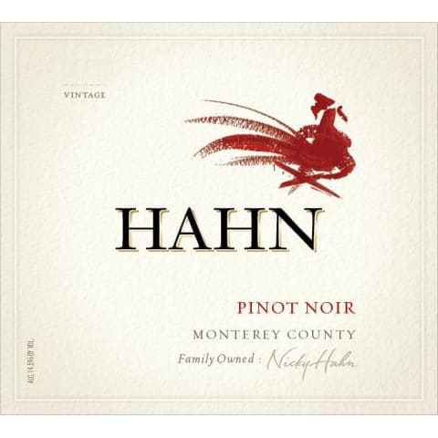 Hahn Winery Monterey Pinot Noir 2016 Front Label