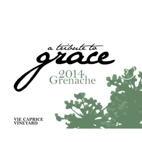 A Tribute to Grace Vie Caprice Vineyard Grenache 2014 Front Label