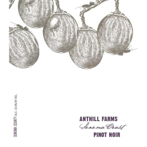 Anthill Farms Sonoma Coast Pinot Noir 2015 Front Label